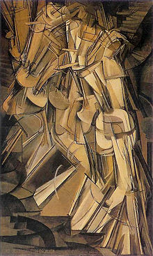 Nude Descending a Staircase (1912) by Marcel Duchamp