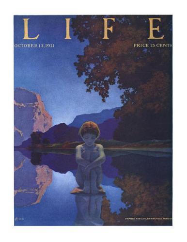 Maxfield Parrish Evening (Life magazine cover) 1921